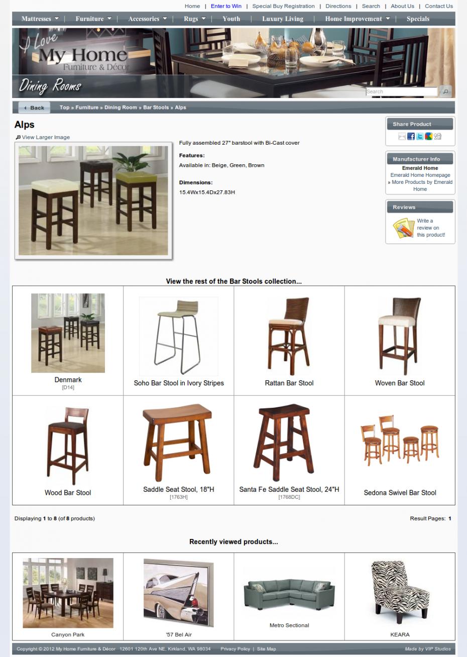 My Home Furniture   D cor   Casey Faber  Seattle Freelance Web Designer    Developer. My Home Furniture   D cor   Casey Faber  Seattle Freelance Web