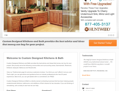Custom Designed Kitchen & Bath