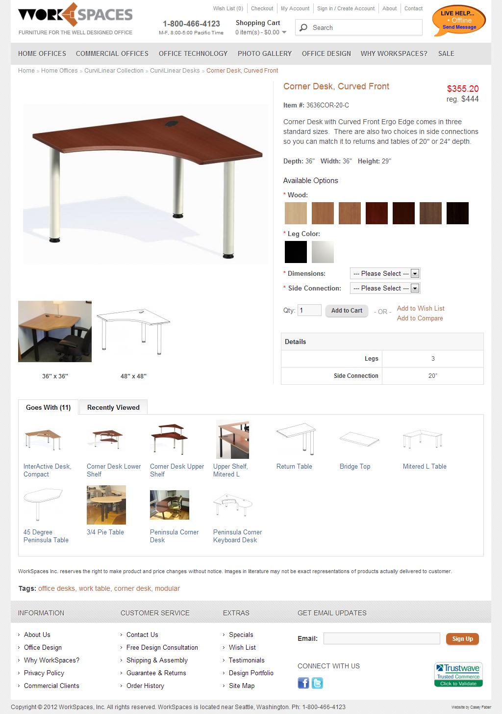 Corner Desk | Workspaces