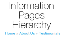 Information Pages Hierarchy